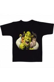 Tricou Shrek, Puss in Boots and Donkey hug negru