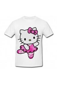 Tricou Hello Kitty pink cartoon alb