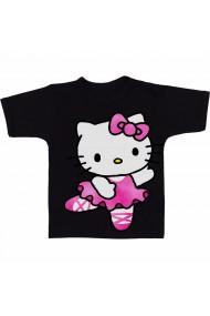 Tricou Hello Kitty pink cartoon negru