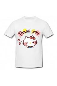 Tricou Hello Kitty, thank you! alb