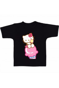 Tricou Hello Kitty ice cream negru