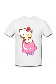 Tricou Hello Kitty ice cream alb