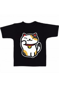 Tricou Hello Kitty Neko Atsume negru