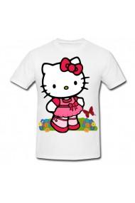 Tricou Hello Kitty cartoon character alb