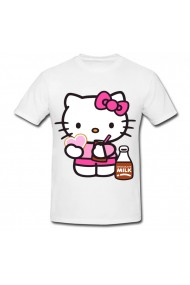 Tricou Hello Kitty with heart alb