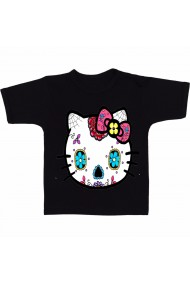 Tricou Hello Kitty sugar skull negru