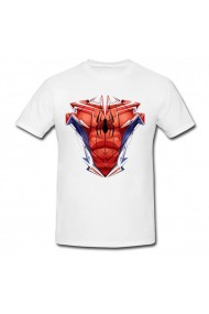 Tricou Spiderman chest graphic alb