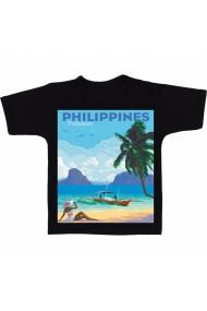 Tricou Philippines, Palawan negru