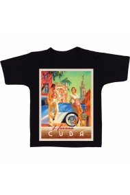 Tricou Havana, Cuba negru