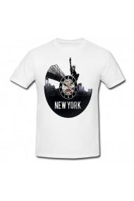 Tricou Ney York Disk alb