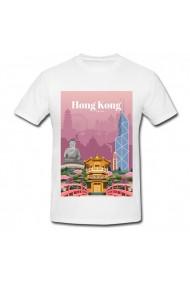 Tricou Hong Kong, China alb