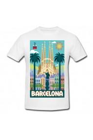 Tricou Barcelona alb