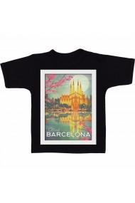 Tricou Barcelona sunSet 2 negru