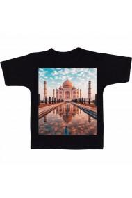 Tricou Taj Mahal, India negru