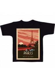 Tricou La Tour Eiffel, Paris negru