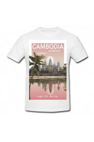 Tricou Cambodia alb