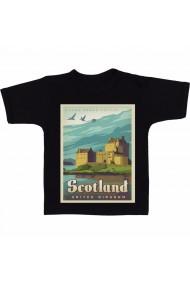 Tricou Scotland negru