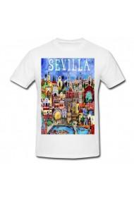 Tricou Sevilla Art alb
