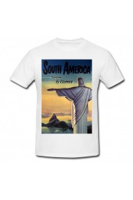 Tricou South America alb