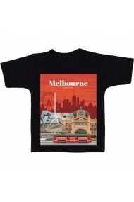 Tricou Melbourne, Australia negru