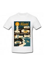 Tricou Miami Art alb