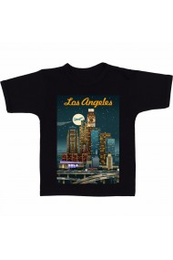 Tricou Los Angeles night negru