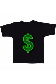 Tricou Simbol dolar verde negru