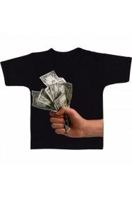 Tricou Mana cu dolari negru