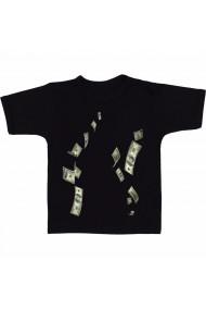 Tricou Bani in vant 5 negru