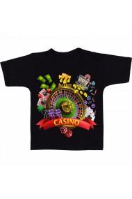 Tricou Casino world negru