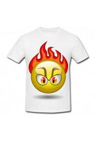 Tricou Angry emoji alb