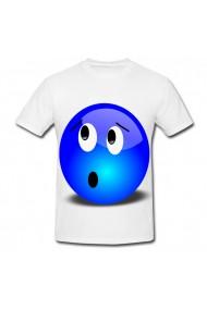 Tricou Emoji albastru alb