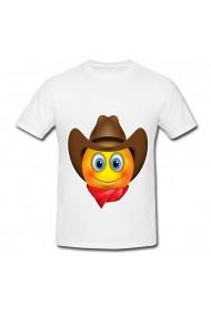 Tricou Cowboy emoji alb