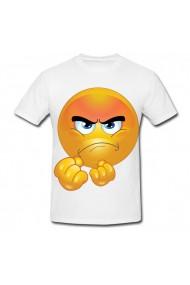Tricou Angry emoji 2 alb