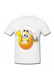 Tricou Bucatar emoji alb
