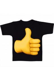 Tricou Like galben negru