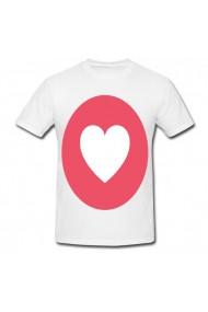 Tricou Heart emoji alb