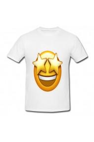 Tricou Star emoji alb
