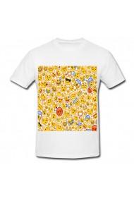 Tricou Emojis alb