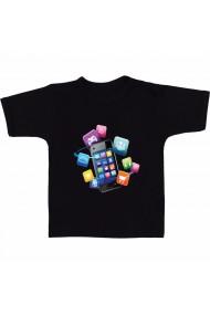 Tricou Aplicatii mobile negru