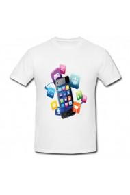 Tricou Aplicatii mobile alb