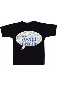 Tricou Social media 4 negru