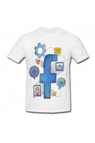 Tricou Instrument Facebook alb