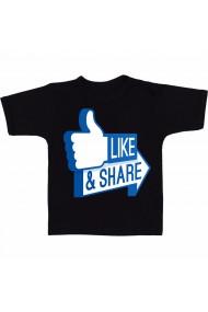 Tricou Like & Share negru