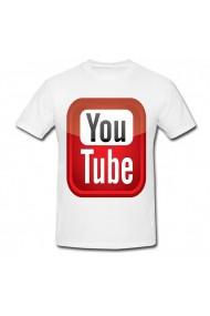 Tricou YouTube alb