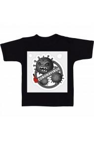 Tricou Corona virus negru negru