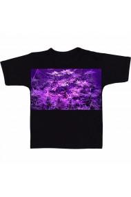 Tricou Marihuana mov negru