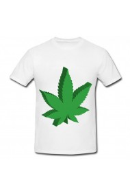 Tricou 3d weed alb