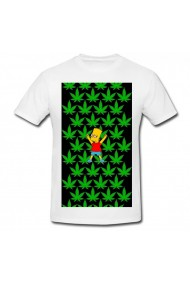 Tricou Marijuana Simpson alb