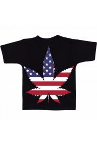 Tricou Marijuana SUA negru